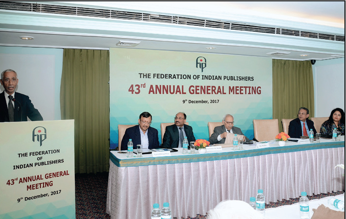 Federation of Indian Publishers' AGM 2017
